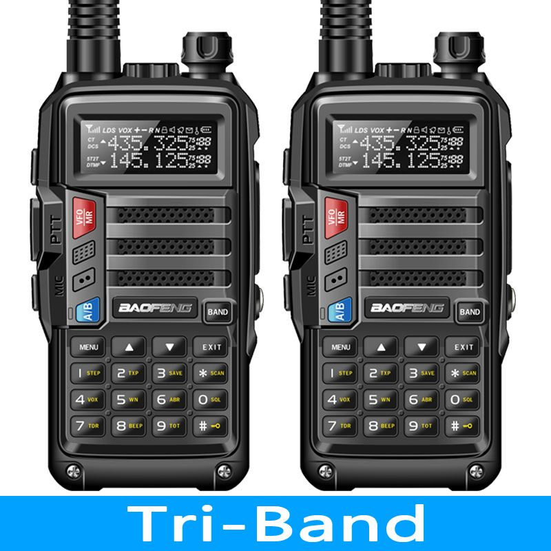 Baofeng VHF UHF Tri-Band Antenna Walkie-Talkie UV-S9 Long-Range Portable 2pcs 8W 10km