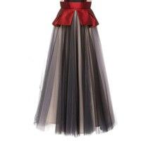 Special Designed 2018 Mix Color Long Tulle Skirts For Women New Arrival Floor Length Zipper Custom
