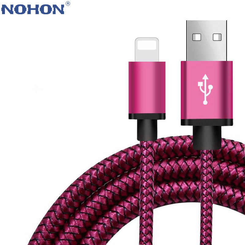 1m 2m 3m de Cable de datos cargador USB para iPhone 6 S 6 5S 5 C 5S 5C SE 5SE 7 8 Plus 10 X XR XS Max iPad carga rápida cable largo corto
