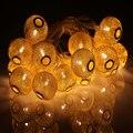 3 M de Ouro Marroquino Orb Luzes LED String Bateria Operado com 20 Leds, Do Casamento Do natal Luzes Decorativas Lumineuse Guirlande
