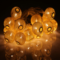 3M Golden Moroccan Orb LED String Lights Battery Operated with 20 Leds, Christmas Wedding Decorative Lights Lumineuse Guirlande