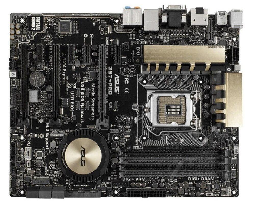 original Asus Z97-PRO Desktop Motherboard Z97 Socket LGA 1150 i7 i5 i3 DDR3 32G SATA3 USB3.0 ATX motherboards free shipping for asus z97 k original new desktop motherboard for intel z97 socket lga 1150 for i7 i5 i3 ddr3 32g sata3 usb3 0 atx