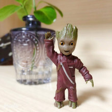 avengers 4 endgame action figure Mini Thanos Tree man Grootted Doll Keychain Toys Guardians Galaxy Baby Treeman Pendant Toys цена 2017