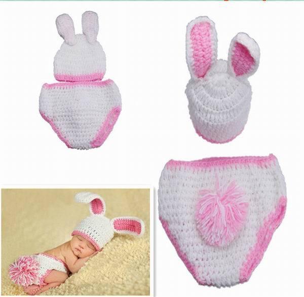 Conejitos encantadores conejo blanco del bebé animal unisex traje ...