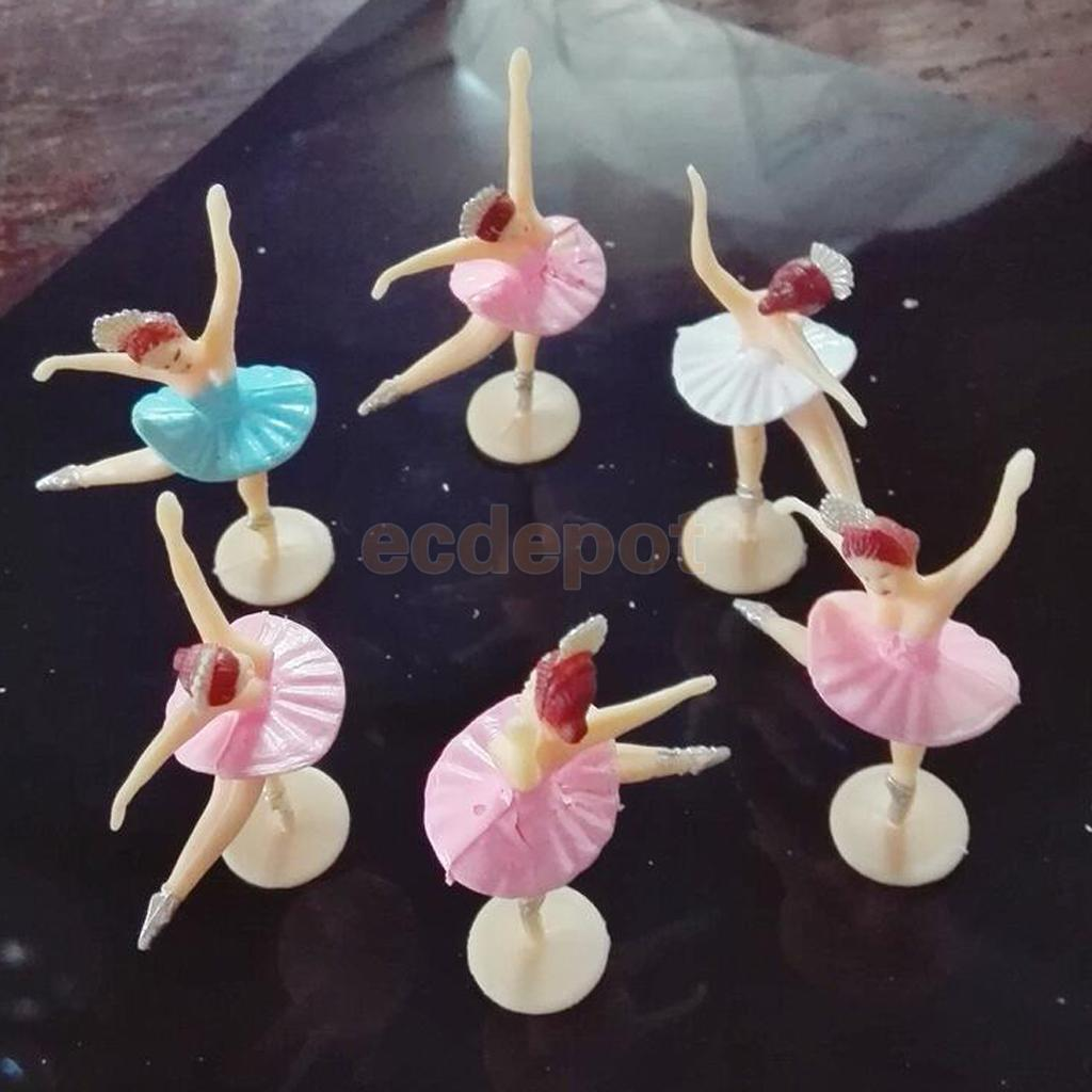 12pcs little ballerina mini ballet girl baby shower favors for Baby shower decoration cutouts