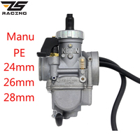 ZS Racing Keihin PE Manu Caburetor Motorcycle 24mm 26mm 28mm Carburador For 50cc 100cc 125cc 150cc