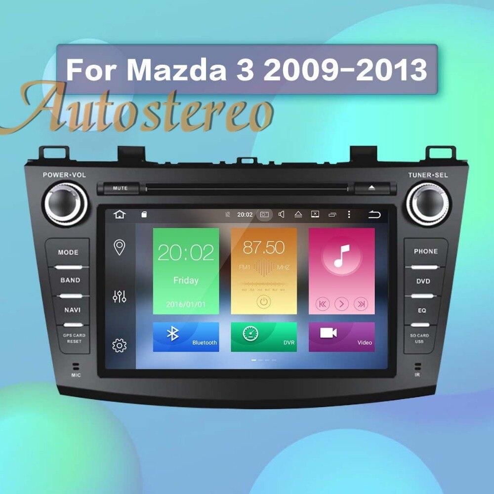Date Android8.0 4 gb RAM Voiture GPS Navigation Lecteur DVD Pour Mazda3 Axela 2009-2012 stéréo unité multimédia bande enregistreur radio
