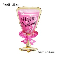 Balloons Wine-Bottle Wedding-Decoration Birthday-Party Pink 20-Years-Old Toy High-Quality