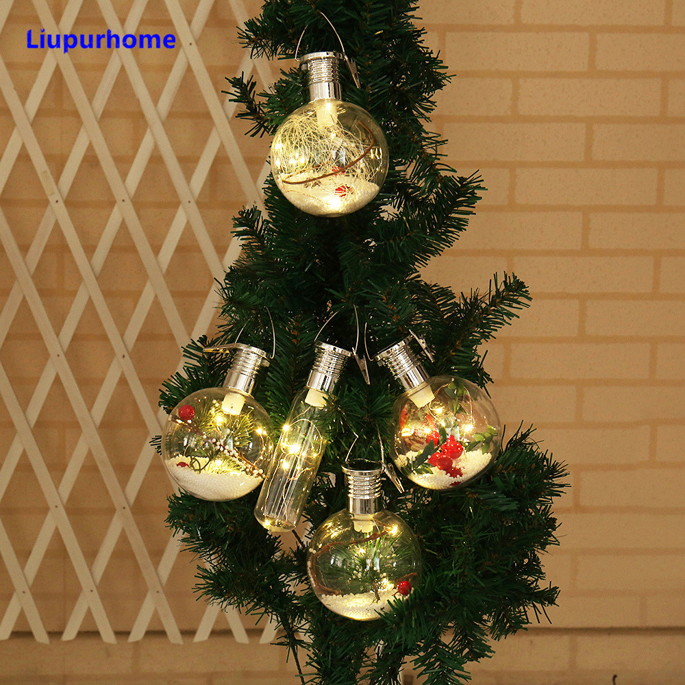 Solar Energy Bulbs Ball Copper Wire Bulb Lamp Christmas Tree Decoration Home Bedroom Night Light LED Hanging XP
