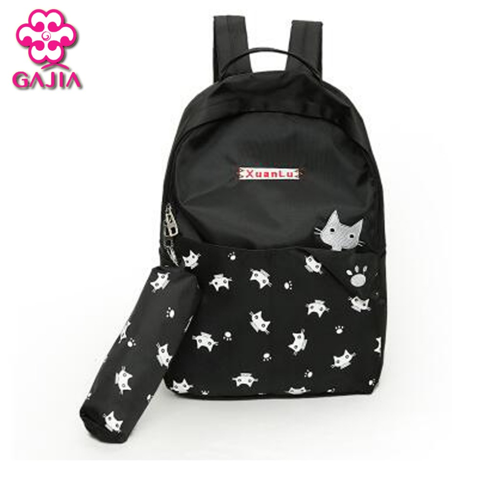 Hot Selling Student Book Bag Women Backpack High Quality Canvas Plaid Preppy Style Girl Fashion Kawaii Animal Prints Backpack new arrival 2017 womens wedding shoes green crystal high heels platform shoes real leather insole woman party dress shoes