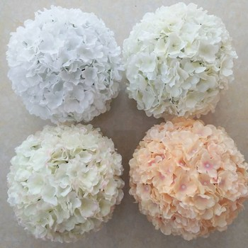 12 inch upscale artificial hydrangea flower ball pincushion kissing ball wedding supermarket decoration hangings ornament