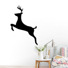Personalized Color Design Art Deer Wall Sticker Home Living Room Bedroom Decorative Mural Animal Beauty MuralY-691