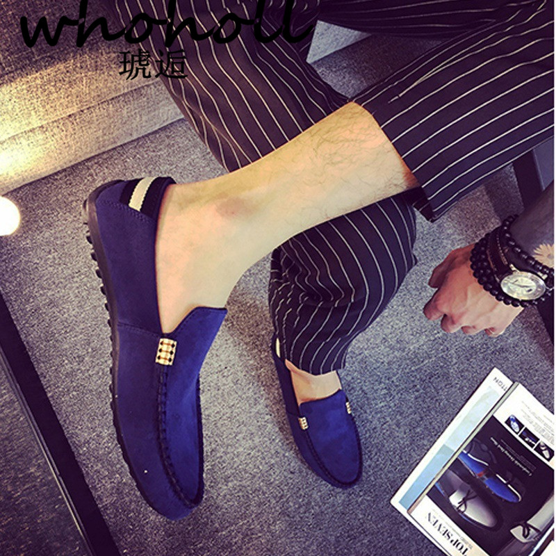 2018 Mann Schuhe Casual Faulenzer Männlichen Männer Sapato Masculino Rot Blau Schwarz Boden Leinwand Slip On Driving Mokassin Loafers Flache Schuhe