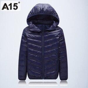 Image 5 - A15 Children Clothing Boys Winter Jacket 2019 Brand Hooded Kids Girls Winter Coat Long Sleeve Warm Parka Outwears Big 10 12 Year