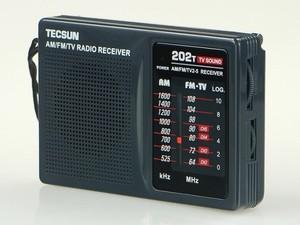 Image 2 - Top Quality TECSUN R 202T radio Pocket AM FM TV Audio Radio black Portable Free Shipping