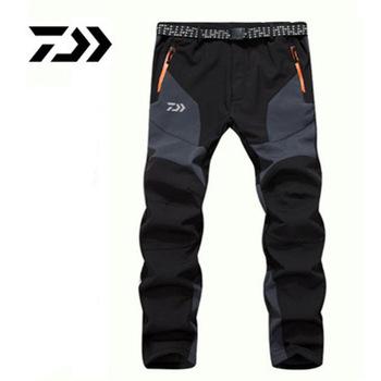 Spodnie wędkarskie DAIWA jesienno-zimowa Outdoor Warm odzież wędkarska wodoodporna kurtka typu soft shell Windproof wspinaczka spodnie wędkarskie tanie i dobre opinie LANSHITINA