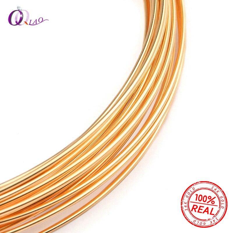 Einem meter 0,25/0,41/0,64/0,8mm halb hart Gold gefüllt perlen draht metel gewinde 14 k gold draht für gold Schmuck, der Ohrring DIY