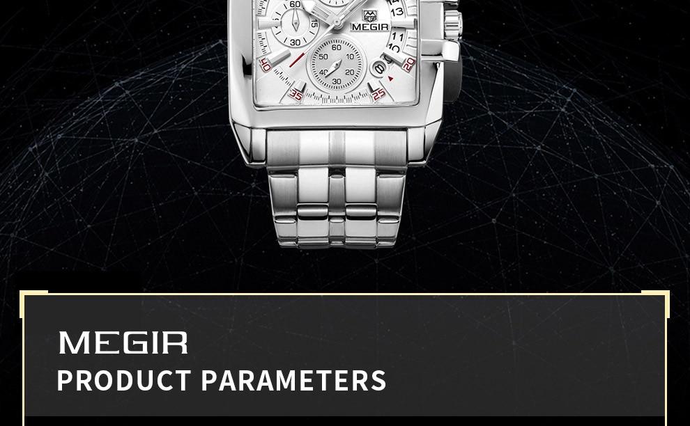 2018-En_05  MEGIR Males's Large Dial Luxurious Prime Model Quartz Wristwatches Artistic Enterprise Stainless Metal Sports activities Watches Males Relogio Masculino HTB1u h kOMnBKNjSZFzq6A qVXay