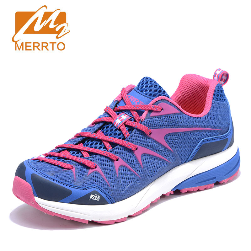 MERRTO New 2018 Running Shoes Sneakers Women Outdoor Sports Cushioning Breathable Mesh Super Light Shoes Female Athletic