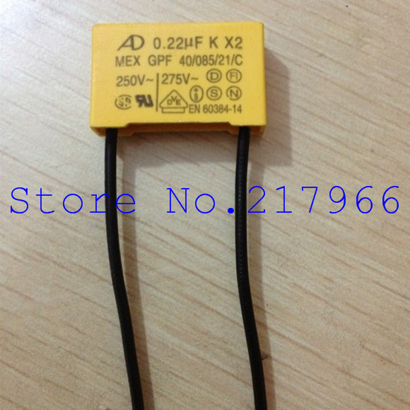 50PCS X ,Love AD Safety 275V224 0.22UF K X2 Capacitor  Size 18*8*14mm     26*8*17mm
