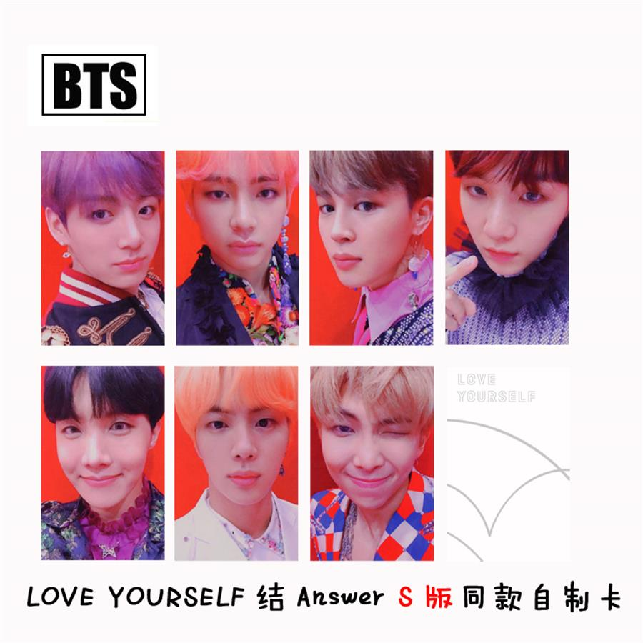 Kpop Bts Love Yourself Answer S Version Autograph Photocard Jungkook J-hope Paper Photo Cards 7pcs/set Jewelry Findings & Components