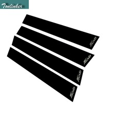 Tonlinker 4 PCS Car styling mirror plate BC pillar scratch decorative cover case stickers for Ford