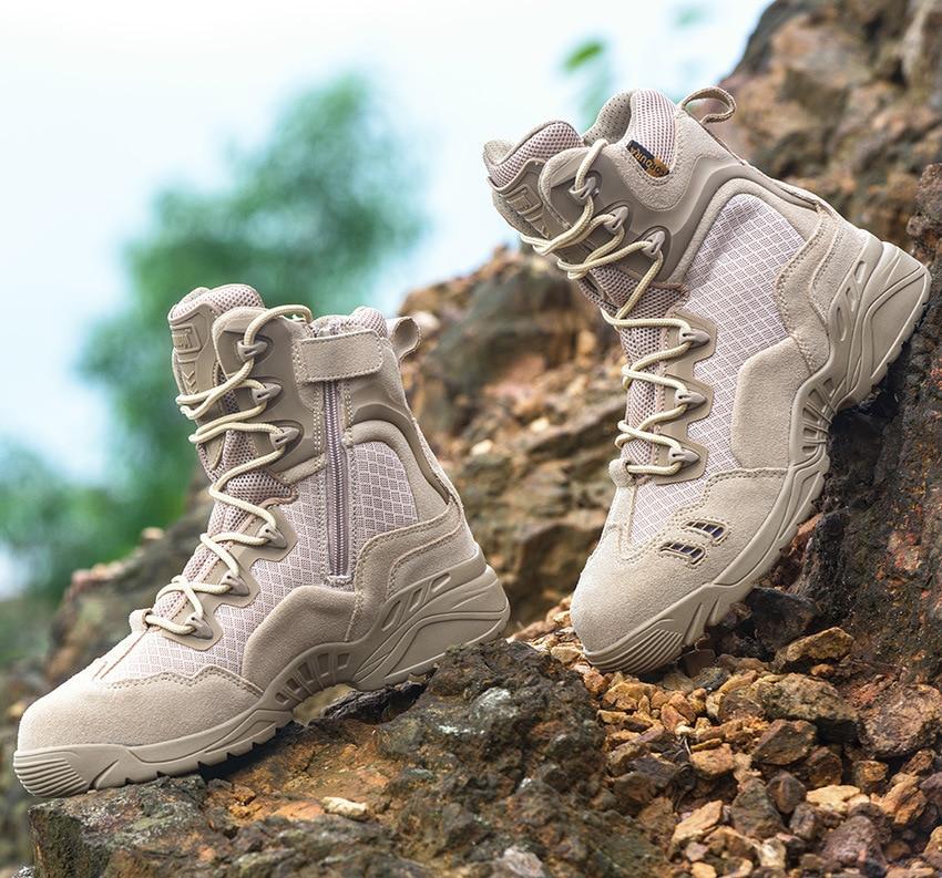 Degli uomini di Arrampicata All'aperto scarpe Da Trekking Trekking Desert Boots Stivali Tattici Ventole Combattimento Militare Dell'esercito DEGLI STATI UNITI Non-slip Maschio di Campeggio Scarpe Da Ginnastica scarpe