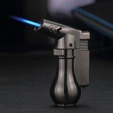 Outdoor Kitchen Ignition Windproof Lighter Butane Gas Gasoline Small Spray Gun Torch Metal Cigar