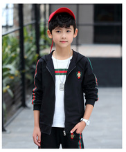 hot deal buy new chidren boys clothing set spring autumn 3 pcs sets coat suits cotton baby boys clothes kids outwear