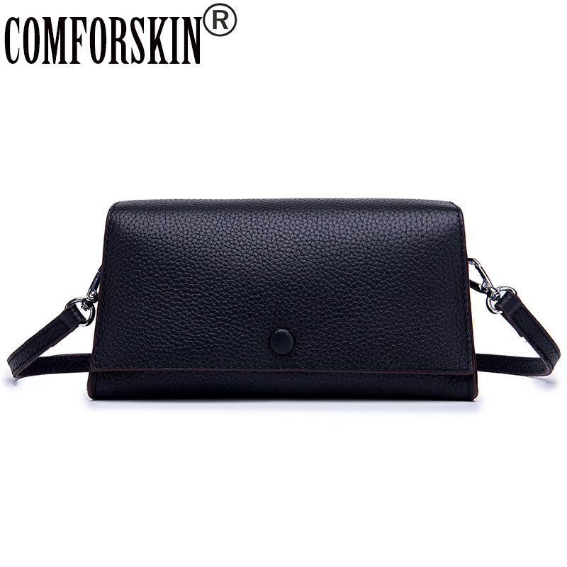 COMFORSKIN Luxury Brand Flap Bags New Arrivals Cross body Bag Cowhide Leather Clutch Bags Multi function Women 39 s Messenger Bags in Top Handle Bags from Luggage amp Bags