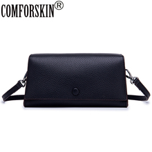 купить COMFORSKIN Luxury Brand Flap Bags New Arrivals Cross-body Bag Cowhide Leather Clutch Bags Multi-function Women's Messenger Bags дешево
