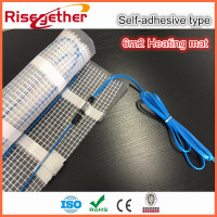 Hot selling 6m2 Self adhesive Twin Conductor Electric Floor Heating Cable Mat For Underfloor Heating 150w/m2 For Indoor Heating