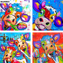Diamant Borduurwerk 5D DIY Diamant Schilderen Cartoon Cattle Diamand Painting Schilderen Kruissteek Decoratie SSC045