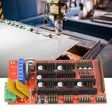 Stepper Motor Drive Module RAMPS 1.4 Control Panel+5 A4988 Stepper Motor Drive Module Set for CNC Printer Parts Accessory free shipping 3dsway 4pcs lot stepper motor driver module heat sinks cooling block heatsink for a4988 drive module 9 9 12mm blue
