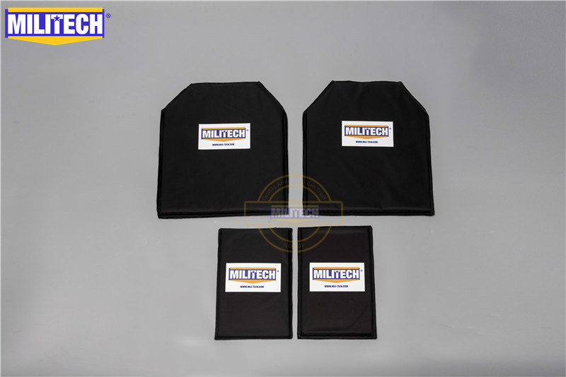 MILITECH Aramid Ballistic Panel Bullet Proof Plate Inserts Body Armor Soft Armour NIJ Level IIIA 3A 11 X 14 STC & 6x10 Two Pairs