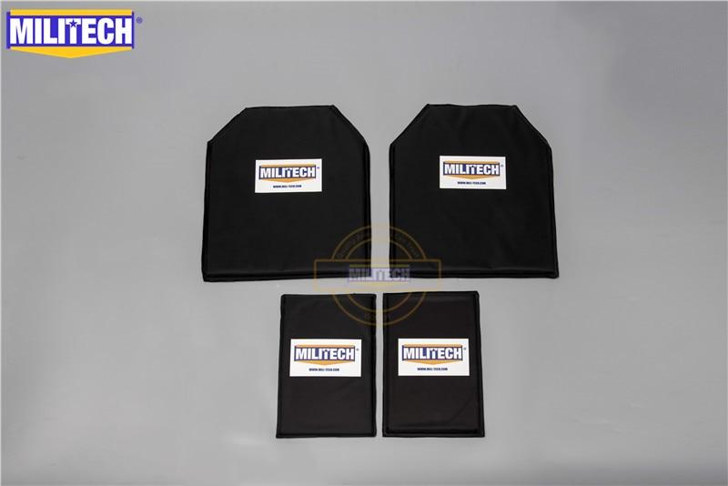 MILITECH Aramid Ballistic Panel Bullet Proof Plate Inserts Body Armor Soft Armour NIJ Level IIIA 3A 11 x 14 STC & 6x10 Two Pairs