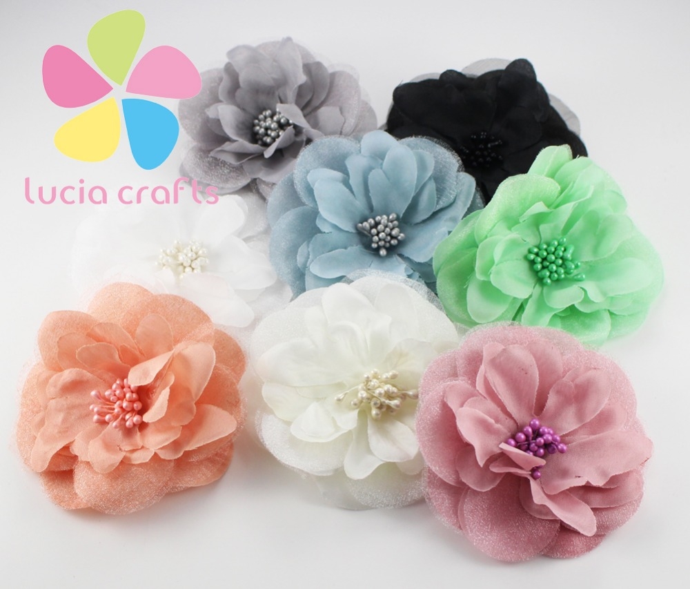 Buy 8 9cm artificial silk flower the for Artificial flower decoration