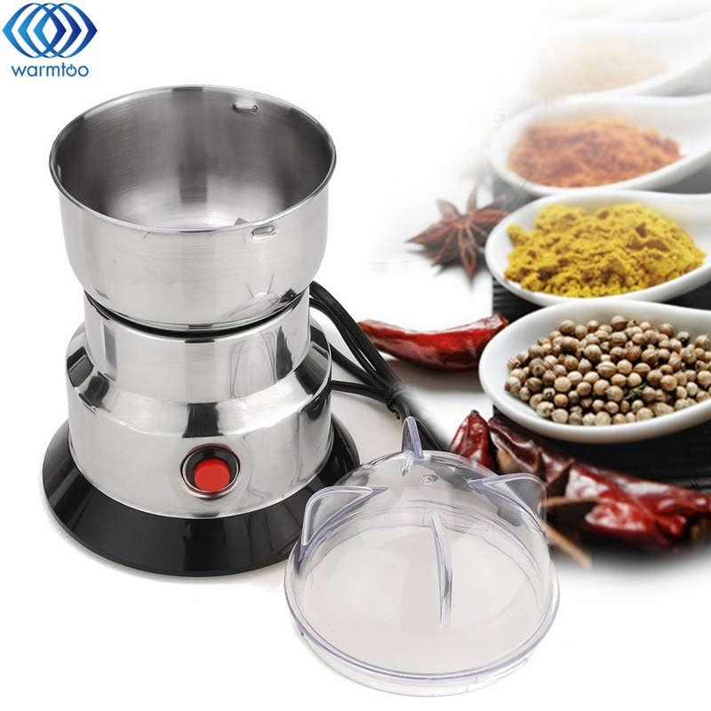 220V Electric Coffee Grain Grinder Bean Milling Machine Stainless Steel Blade Dry Grinder Household Beans Nuts Mill 100W cukyi household electric multi function cooker 220v stainless steel colorful stew cook steam machine 5 in 1
