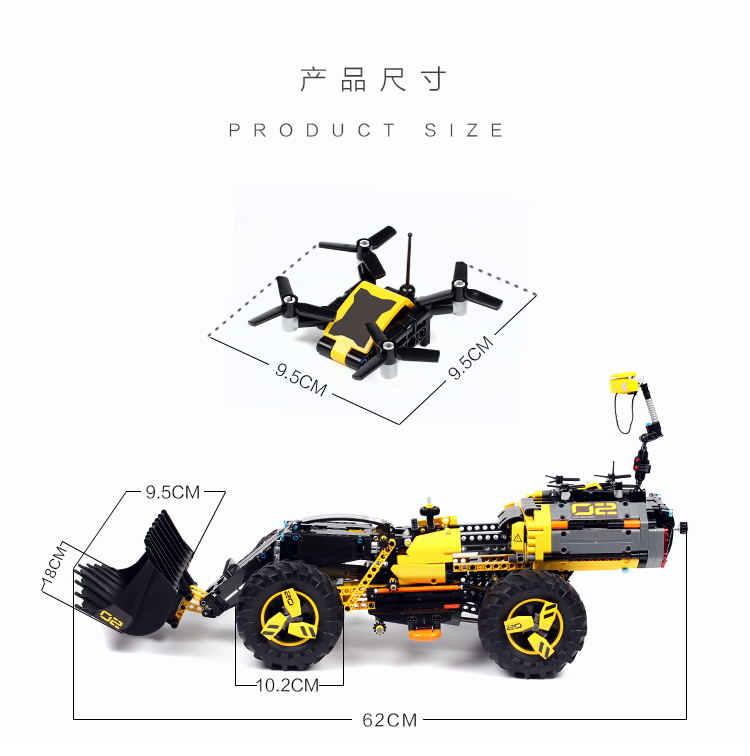 Image 5 - DECOOL TECHNIC 3380 2IN1 Volvo Wheel Loader ZEUX Model Building Blocks Bricks Toys for children GIFTS compatible legoly 42081-in Blocks from Toys & Hobbies