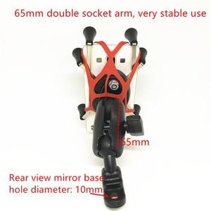 Image 2 - Jadkinsta Motorrad Lenker Rückspiegel Montieren Schienen X Grip für Gopro Handy Smartphone Halter für iPhone 7 7 + 6s Ram Halterungen