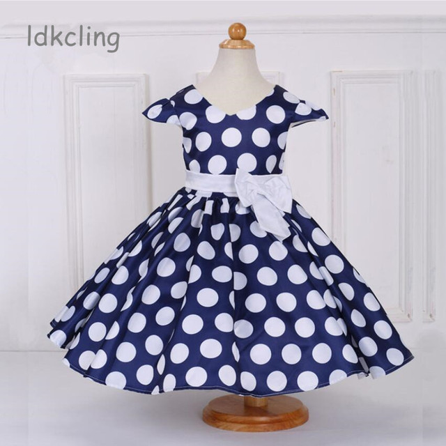 wholesale dealer 38a6e 49df7 Sommer Polka Dot Mädchen Kleid Prinzessin Kostüm Kinder Kleider Für Party  Tragen Abendkleid Vestido Formales 2 8Years