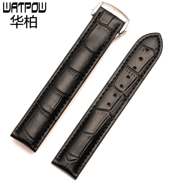 9a5e19f5813 18mm 19mm 20mm pulseira de couro preto brown watch strap para omega DE VILLE  relógio banda