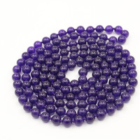 Trendy Accessory Crafts Parts Jewelry Making 100 8mm Round Purple Necklace DIY Beads Stones Balls Gifts Hand Made Wholesale