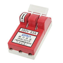 380VAC 63A 3 Phase 3P Electronic Circuit Opening Load Knife Switch Red