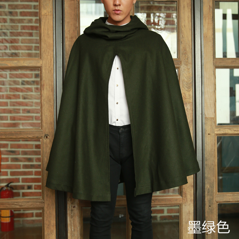 De Green Noir Masculin Mode Manteau Conception Costumes Capot Géant 2016 Longue army Hommes Lâche Vêtements Avec Un 5xqwSB6AaA