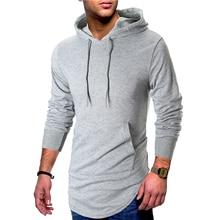 2019 new hip hop long hoodies for men good quality back zipper desgin fashion streetwear hoodie sweatshirt