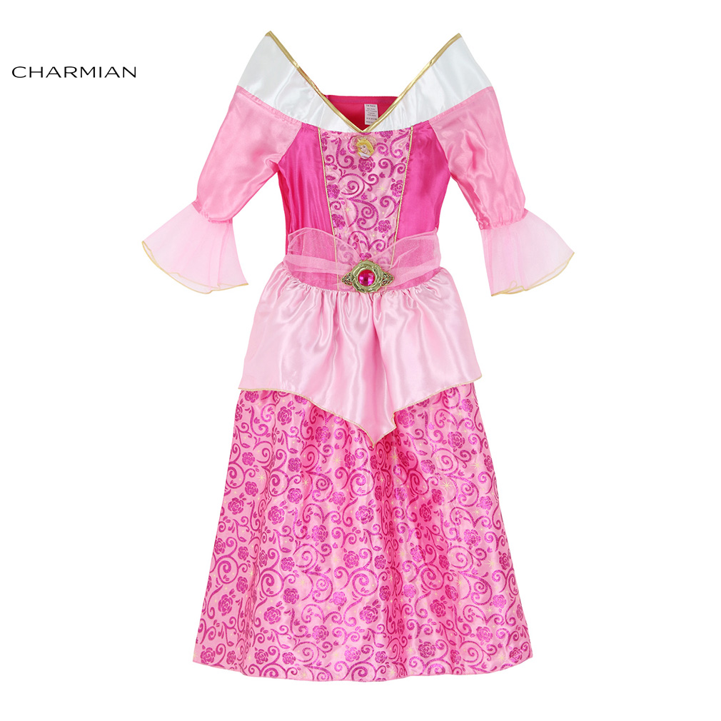 Charmian Lovely Aurora Costume for Girls Halloween Costume Cosplay Fancy Dress Masquerade Party Halloween Costume Clothing
