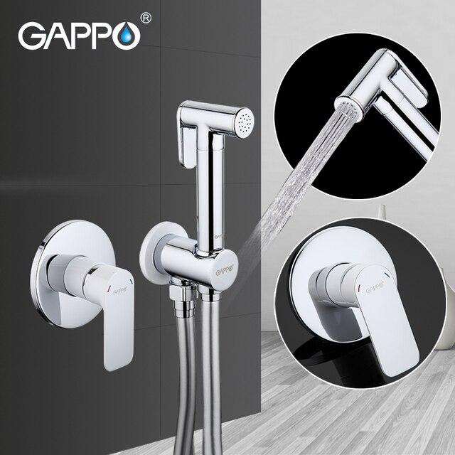 GAPPO Bidet Faucet white bathroom bidet taps washers muslim shower toilet faucet bidet toilet sprayers wall mount bidet mixer