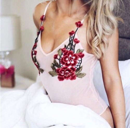Sexy Dessous Frauen Body Transparent Crochet Netz Bloße Spitze ...