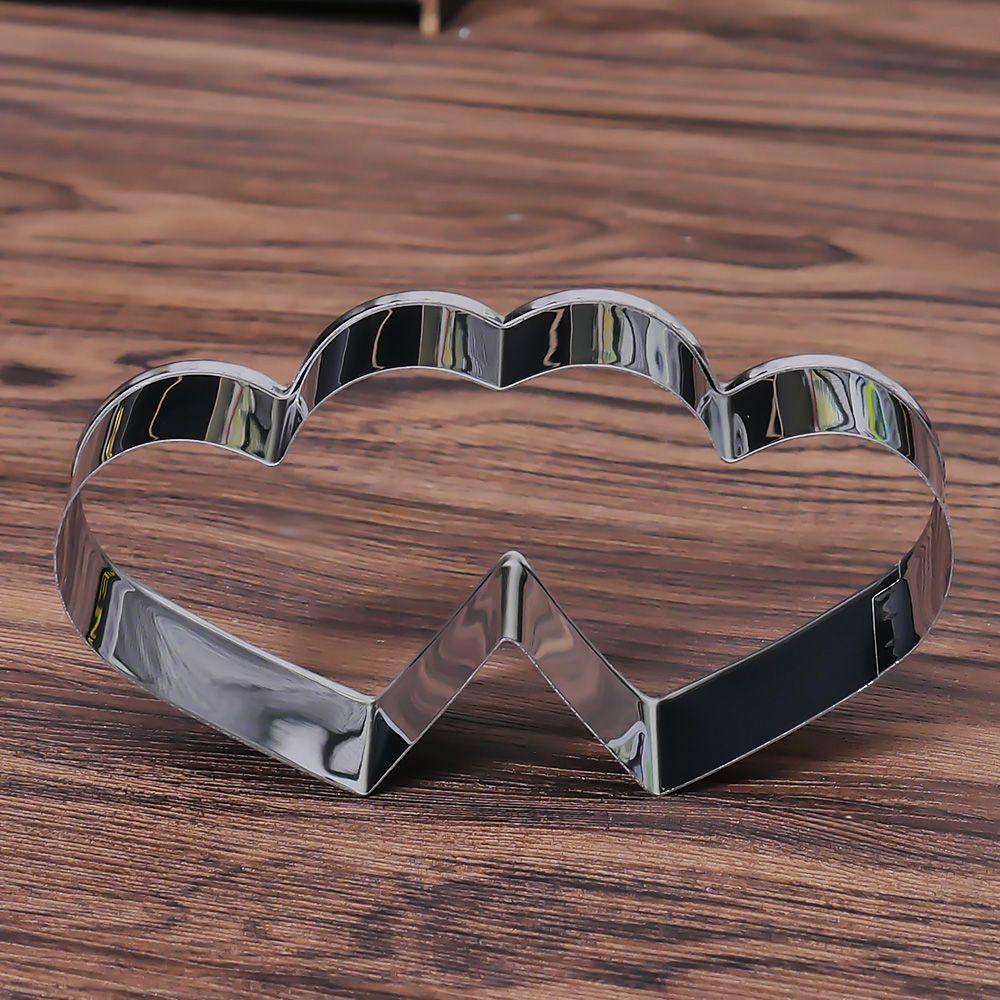 3D Сладкая любовь тема из нержавеющей стали резак для печенья конфеты Двойное сердце металла печенья кухня выпечки кондитерский инструмент